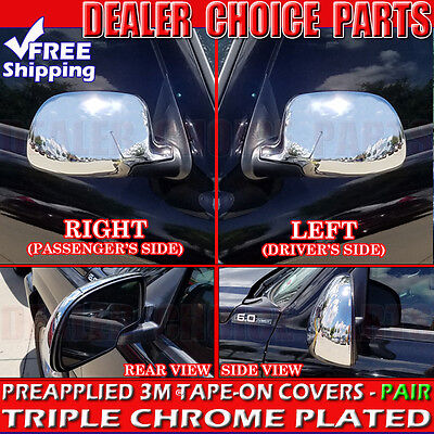 Fits Chevy Silverado 1500 2000-2006 ABS Chrome Side Full Mirror Covers Overlay