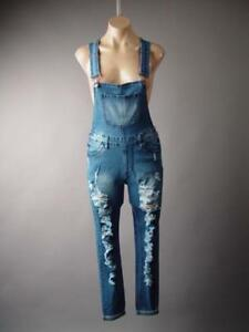 7c1dc32bfc9a Image is loading Plus-Destroyed-Ripped-Skinny-Jeans-Denim-Pant-Dungarees-