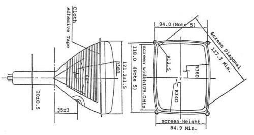 Amber CRT Screen for Icom IC-780 IC-781 IC-R9000 R-9000