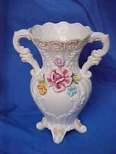 Vintage Italian Capodimonte Porcelain Vase / Urn Roses, Flowers