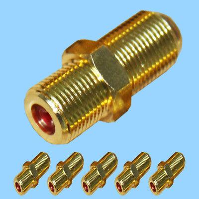 125 10 x SAT F-Verbinder Buchse mit Verdrehschutz Kupplung Adapter Kabel