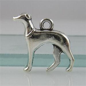 12308-20PCS-Silver-Tone-Alloy-Cute-Dog-Hound-Whippet-Animal-Pendant-Charm