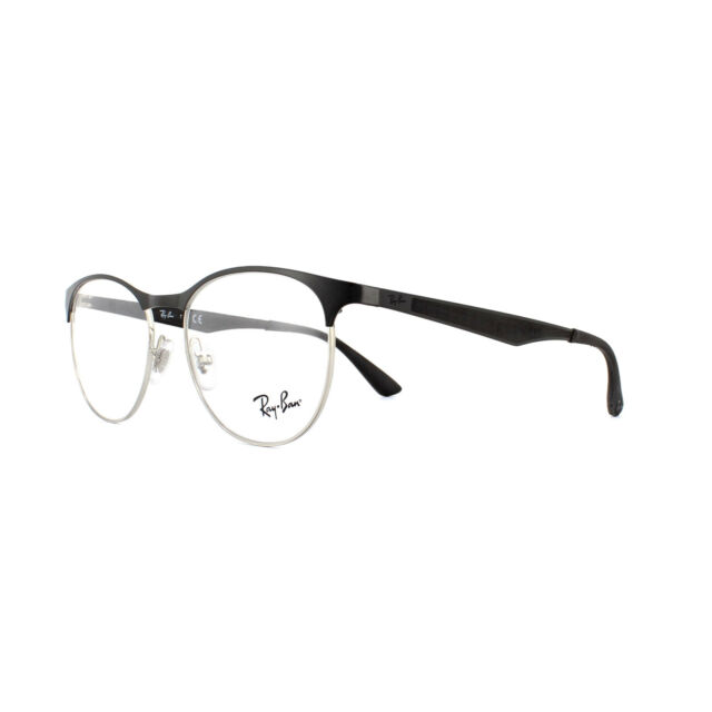 7a3f2bff036 Glasses Ray Ban RB 6365 2861 Silver Top on Black 51 17 Style for ...