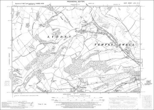 Lydden Ewell Minnis OS Kent 67-NE-1939