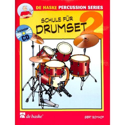 +CD 1002121-9789043110099 Bomhof Gert: Schule für Drumset Band 2