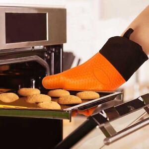 1paire Gant anti-chaleur Silicone manique cuisson BBQ mitaines Outil cuisine CL