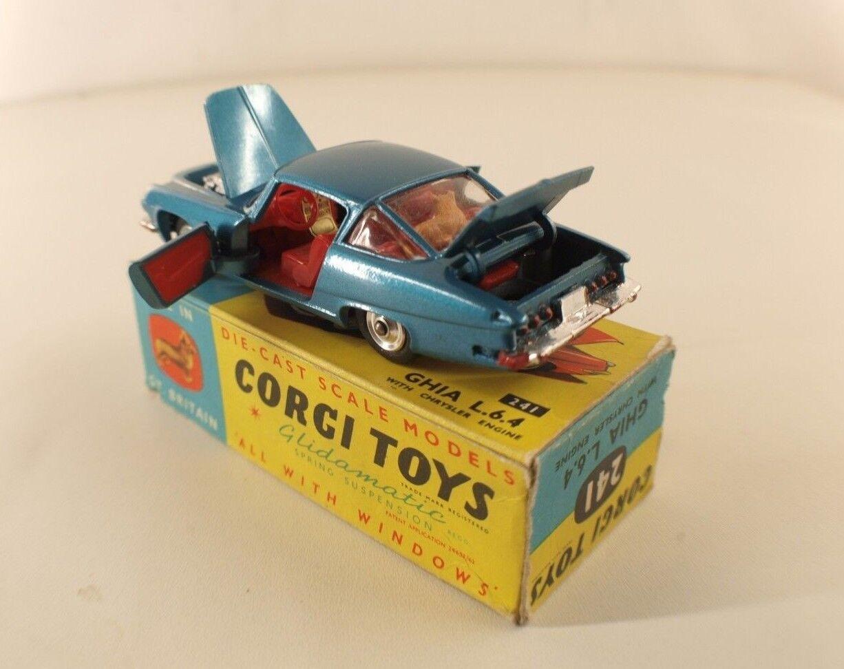 Corgi Toys 241 GHIA L 6.4 6.4 6.4 Chrysler jamais joué en  boite 827aff