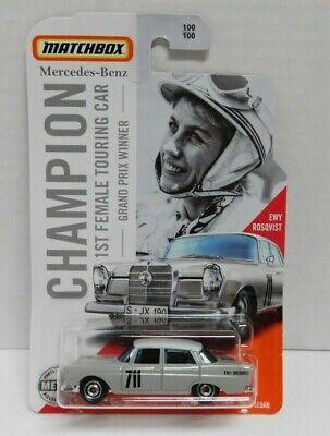 Matchbox Mercedes Benz 1st Female Touring Car Champion Grand Prix NEW Rosqvist
