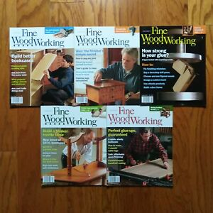 Fine-Woodworking-Magazine-Lot-2007-5-Issues-Bookcases-Wax-Glue-Ups-Shaker-Table