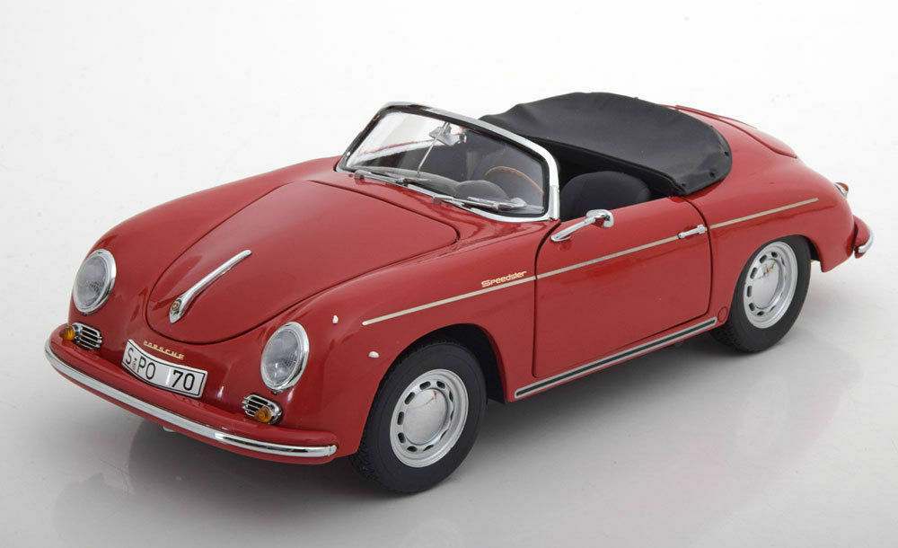Schuco 1955-1959 Porsche 356A Carrera Speedster rosso w Openings 1 18New Item