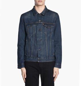 New-Levis-Mens-72334-Dark-Medium-Blue-Denim-Classic-Trucker-Jean-Jacket-2XL-XXL