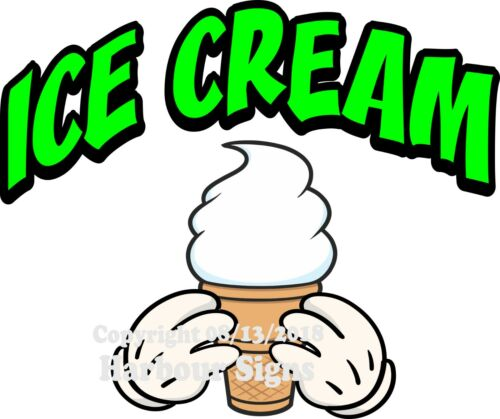 Concession Food Truck Sticker M Choose Your Size and Color Ice Cream DECAL