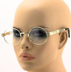5b11b629962 Men s Women VINTAGE RETRO 60 s LENNON Style Clear Lens OVAL Frame ...