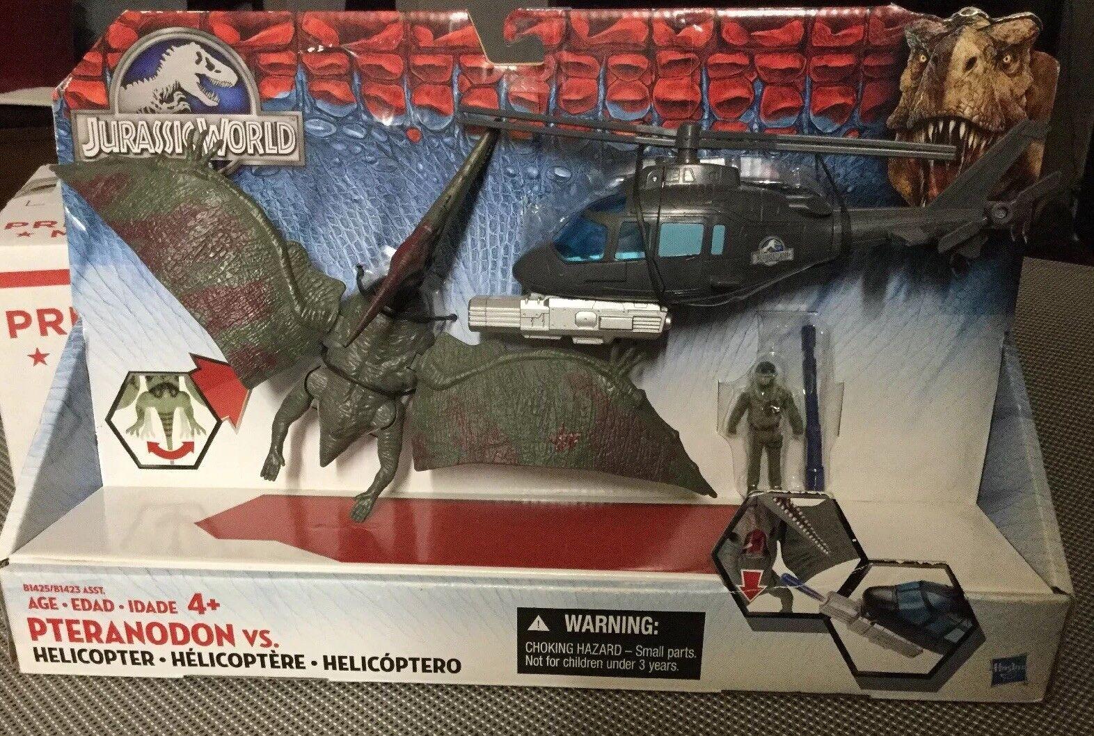 JURASSIC WORLD HASBRO PTERANODON VS HELICOPTER DINOSAUR DINOSAUR DINOSAUR TOY JURASSIC PARK 958fb7