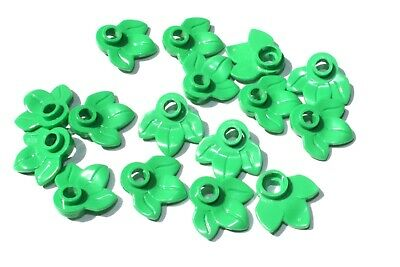 16x LEGO® Rundplatte mit 3 Blättern Pflanze Blume 32607 NEU Hellgrün