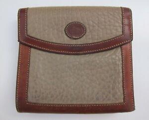 Vintage-Dooney-amp-Bourke-Tan-Brown-Beige-Worn-In-Leather-Wallet-Clutch