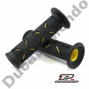 Progrip-Black-amp-Yellow-Race-Grips-medium-Ducati-Aprilia-Cagiva-MV-Agusta-Corse