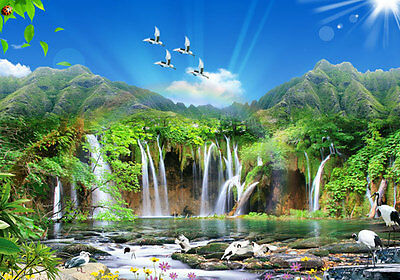 Plitvice Lake Rocks Waterfall Full Wall Mural Photo Wallpaper Home Decal 3D Kids
