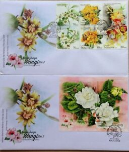 Malaysia FDC with M/S & Stamps (07.03.2016) - Scented Flowers Series 2
