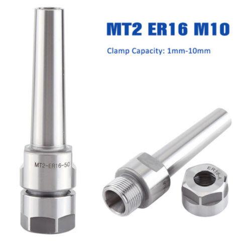 MT2 ER16 M10 Spannzange Halter Morsekegel Adapter CNC Fräsen Werkzeug Arbor
