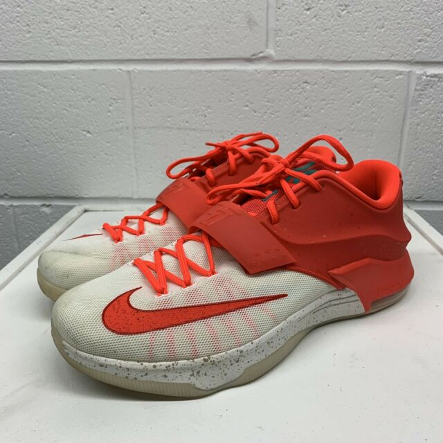 competitive price e77ba 7fe50 Nike KD VII Xmas 7 Mens Basketball Shoes Crimson White Kevin Durant  707560-613