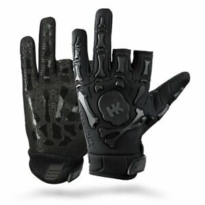 HK-Army-Paintball-Full-Half-Fingerless-Bones-Gloves-Protective-Black-Large-L