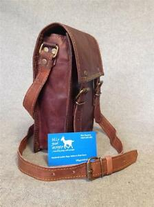 Handmade-Goat-Leather-9-034-Messenger-Bag-Satchel-MXS-P-Billy-Goat-Designs