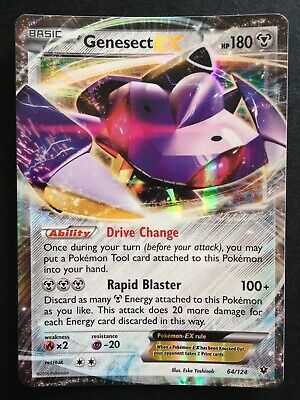 Genesect EX 64//124 XY Fates Collide ULTRA RARE Pokemon Card NEAR MINT