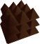 Pro-Pack-Plus-Acoustic-Foam-96pcs-Brown-Grey-pyramid-12X12x4-034-Soundproof-tiles thumbnail 6