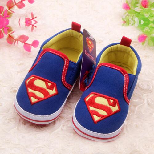 Toddler Newborn Cartoon Soft Crib Sole Baby Kids Girls Boy Prewalker Shoes 0-18M