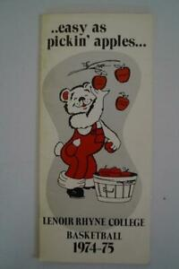 Vintage-Baloncesto-Media-Pulsar-Guia-Lenoir-Rhyne-College-1974-1975