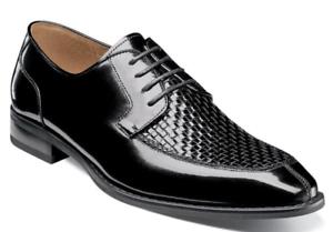 Stacy Adams Winthrop Moc Toe Tejido Zapatos Oxford Negros 25242-001