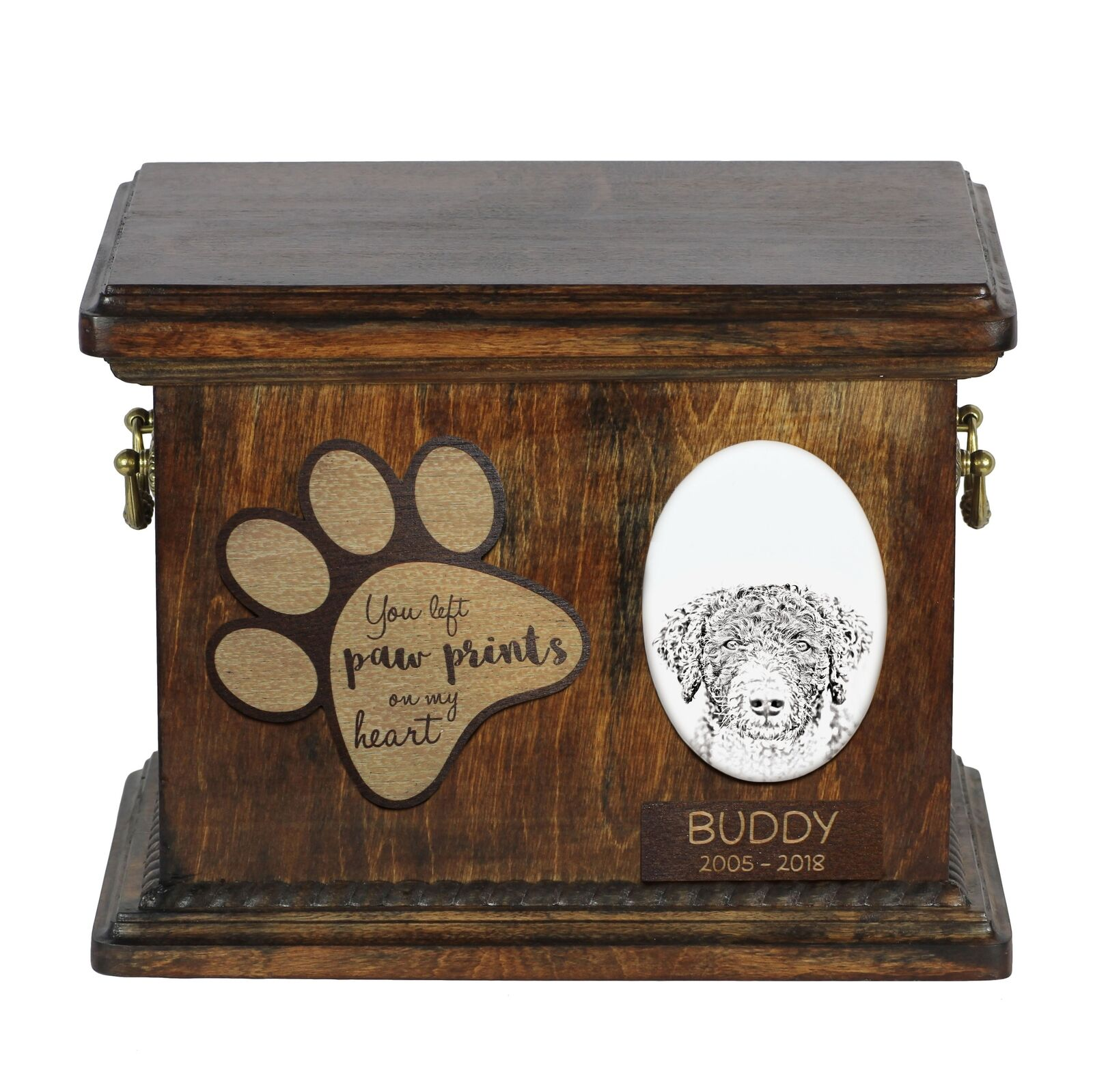 preferenziale Cane di acqua acqua acqua spagnolo- Urna per cenere di cane con piatto in ceramica ArtDog IT  più economico