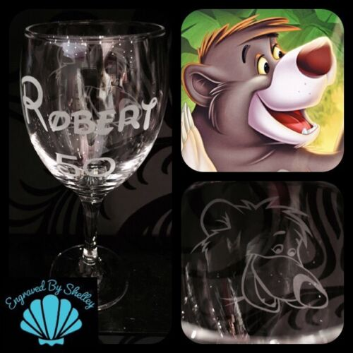 Hand Engraved Disney Olaf Snowman Frozen Wine Glass Gift Free Personalised Name!