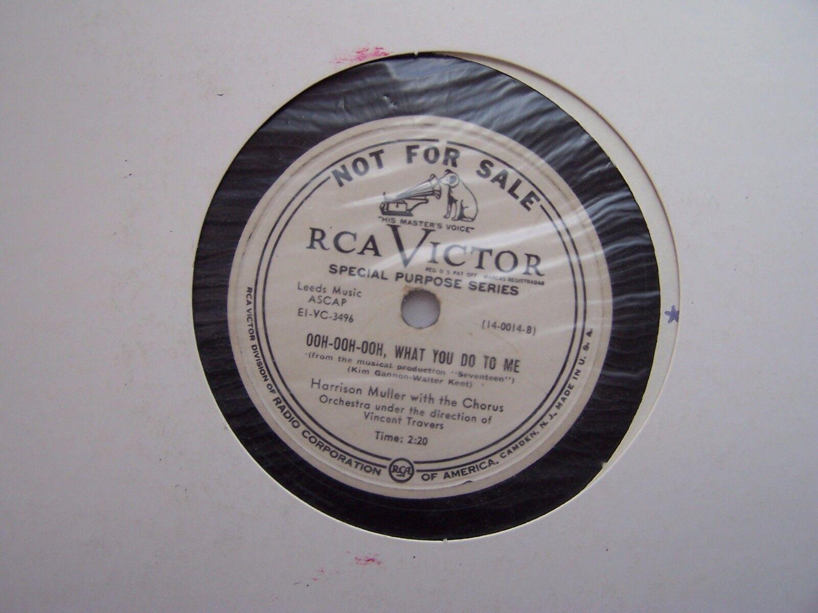 "RCA Victor Special Purpose Series PROMO 12"" 78RPM Vinyl"