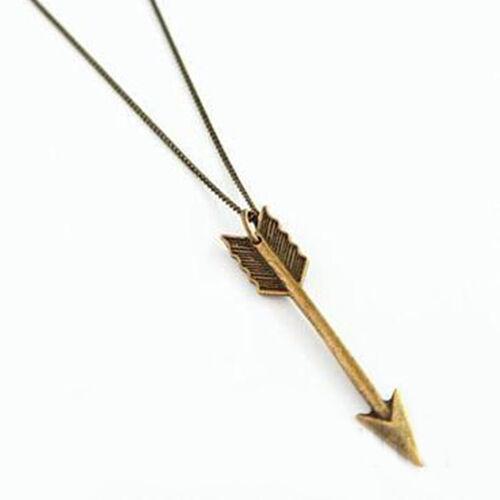 Männer Frauen Mode Halskette Schmuck Pfeil Anhänger Langkettige Halskette