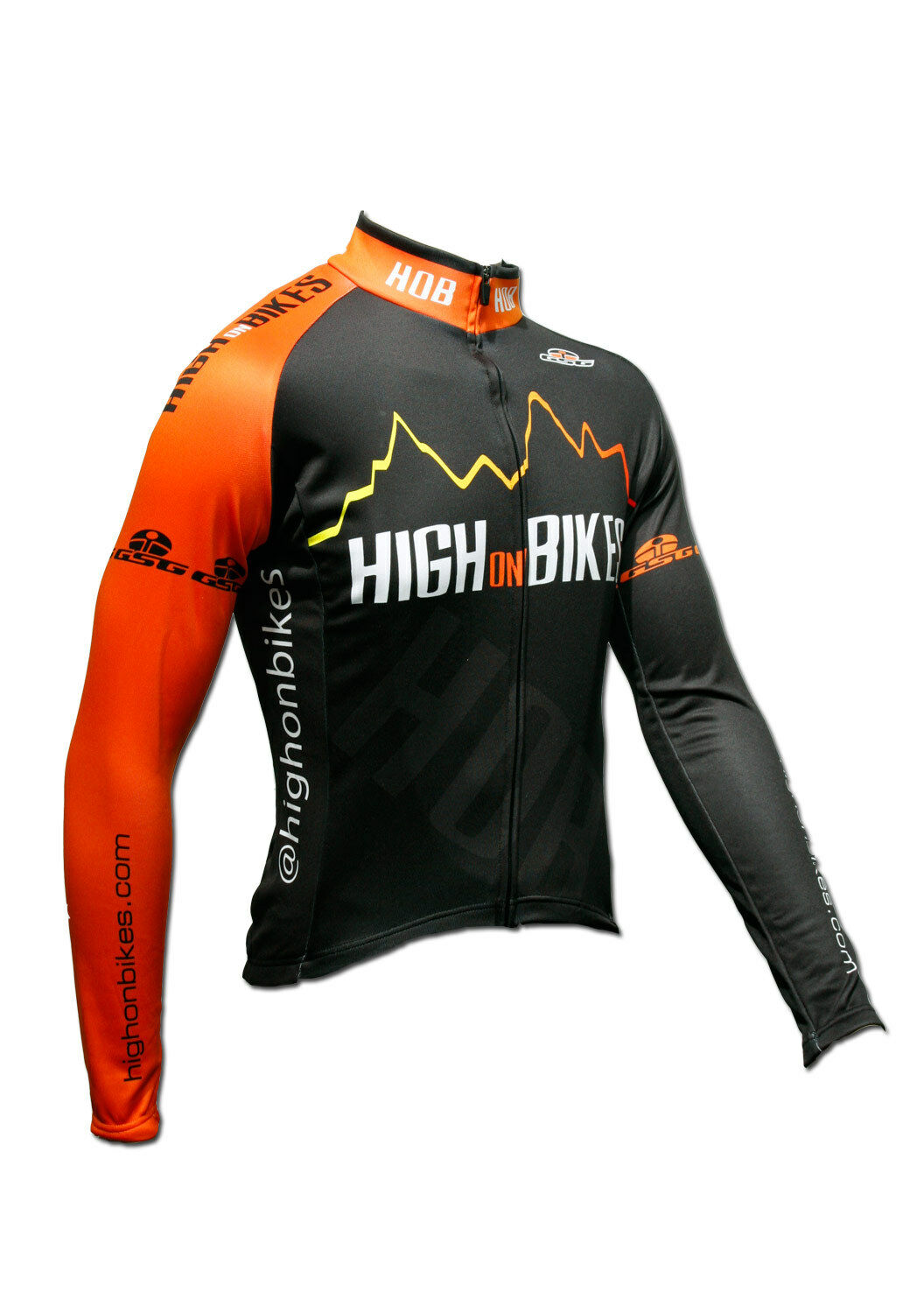 High on Bikes V4 - Long Sleeve Cycling Jersey