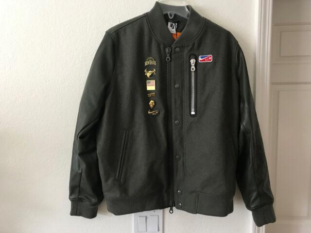 Nike Nikelab x Riccardo Tisci Destroyer Men's Varsity Jacket Green 889989 384