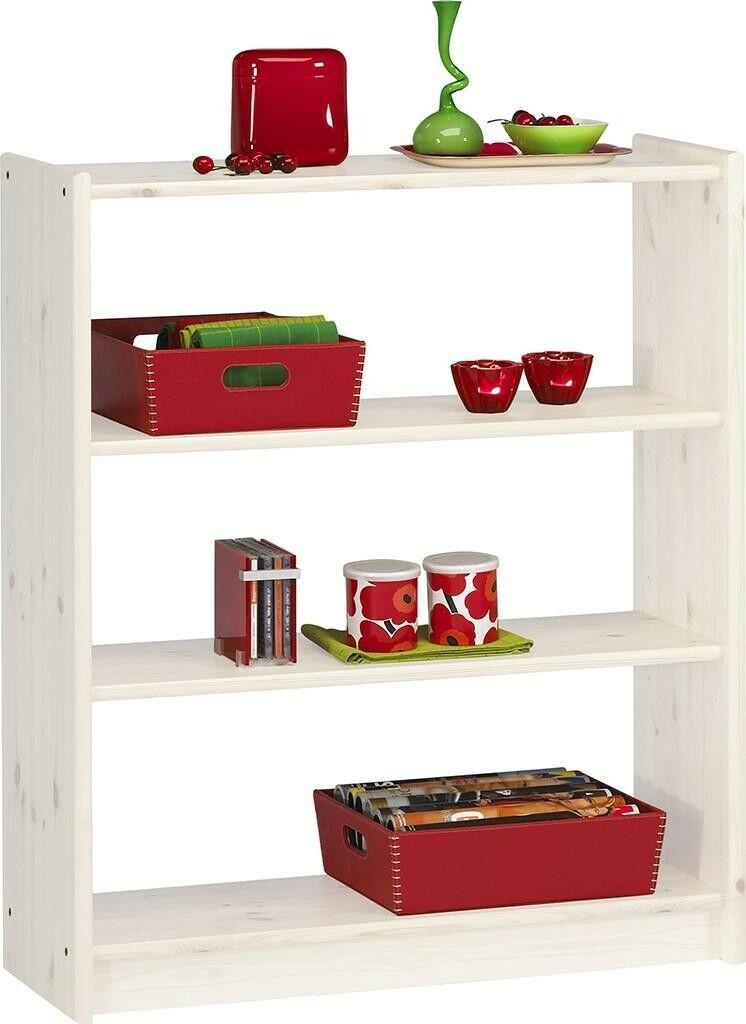 Bois Massif étagère De Bibliothèque Pin Blanc Enfants étagère 84x100 chaussure étagère étagère de cuisine