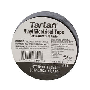 Details about 3M 93604 Tartan Vinyl Electrical Tape 0 70 IN x 60 FT x 6  MIL, 30-Pack
