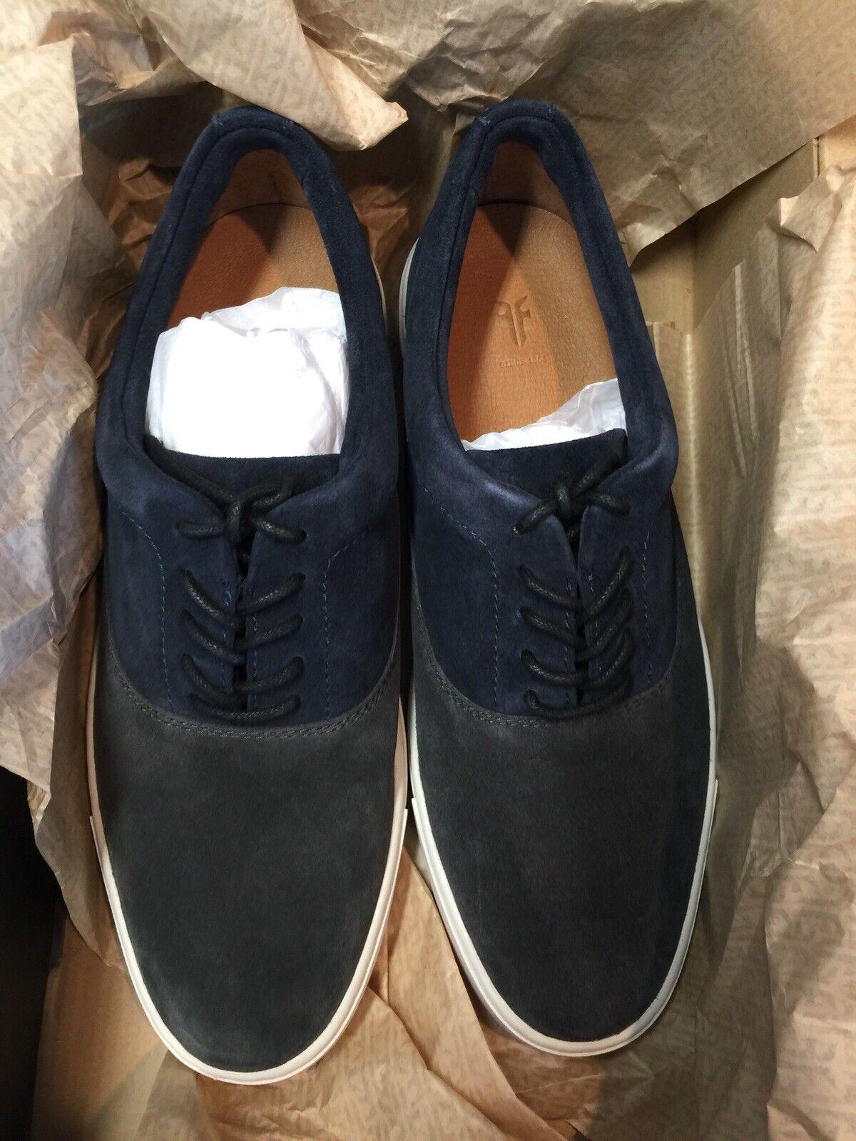 Frye Gabe Bal Oxford Para Hombre Zapatillas De Gamuza Pizarra Talla 10 M