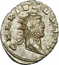 GALLIENUS son of Valerian I Silver Rare Ancient Roman Coin Virtus Cult  ii39984