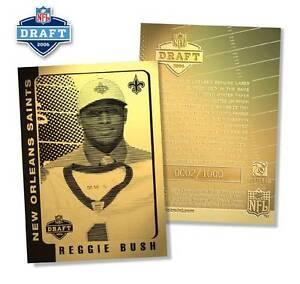 REGGIE-BUSH-2006-Laser-Line-Gold-Card-ROOKIE-Draft-Pick-NFL-1-000-BOGO
