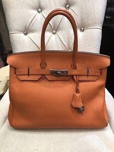 Image Is Loading Authentic Hermes Birkin Togo Bag