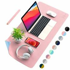 Afritee Desk Pad Protector Mat Dual Side Pu Leather Desk Mat Large Mouse Pa