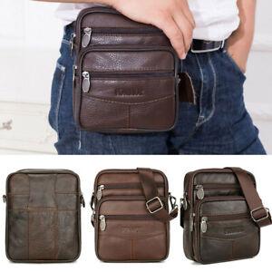 US-Men-039-s-Genuine-Leather-Messenger-Briefcase-Bags-Crossbody-Handbag-Shoulder-Bag