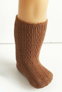 Knee-Socks-BROWN-Lacy-Patterned-for-18-034-American-Girl-Doll-Clothes-AG-New-Retired