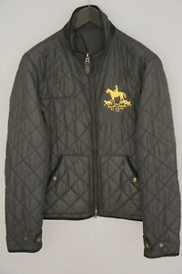 Men-Polo-Ralph-Lauren-Jacket-Quilted-Black-Reversible-Casual-Polyester-M-VAU278