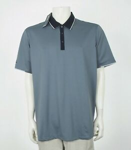 New-Adidas-Golf-ClimaCool-Gray-Tech-Blend-Golf-Polo-Shirt-Mens-XL