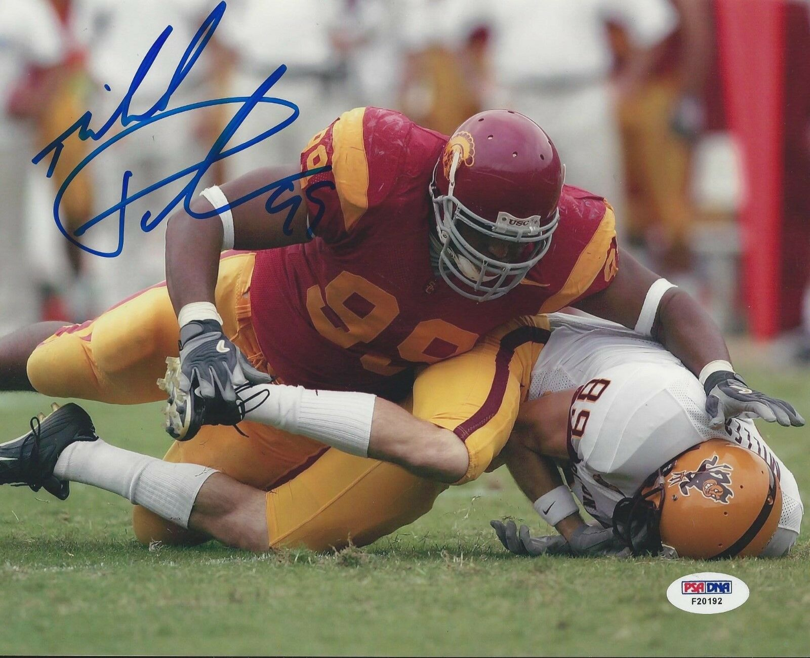 Mike Patterson USC Trojans signed 8x10 photo PSA/DNA # F20192